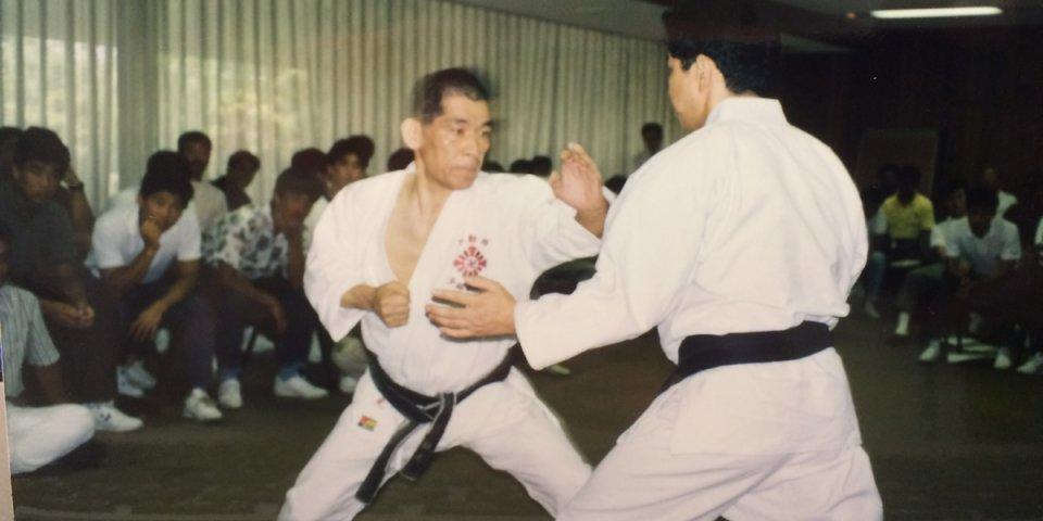 拳法9段、院長の演技